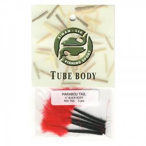 Bilde av Marabou Tail 17 - black / red